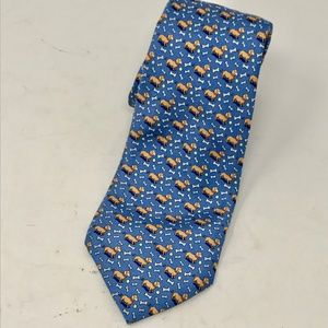 Vineyard Vines Dachshund Dogs Blue Silk Neck Tie